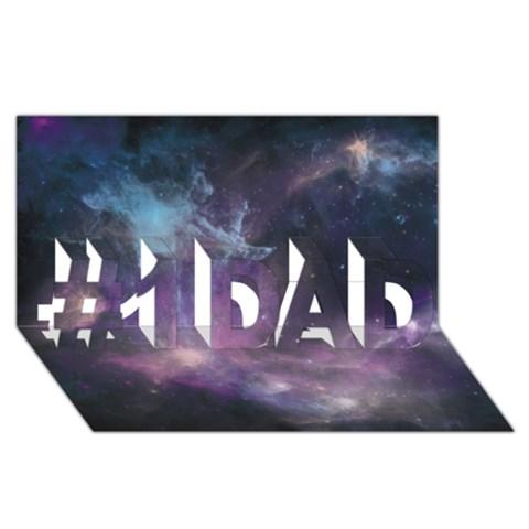 Blue Galaxy  #1 DAD 3D Greeting Card (8x4)