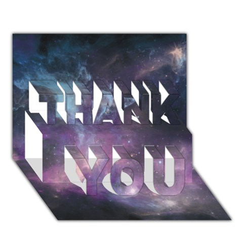 Blue Galaxy  THANK YOU 3D Greeting Card (7x5)
