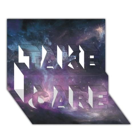 Blue Galaxy  TAKE CARE 3D Greeting Card (7x5)