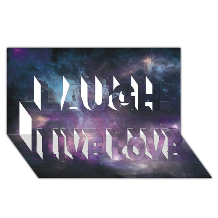 Blue Galaxy  Laugh Live Love 3D Greeting Card (8x4)