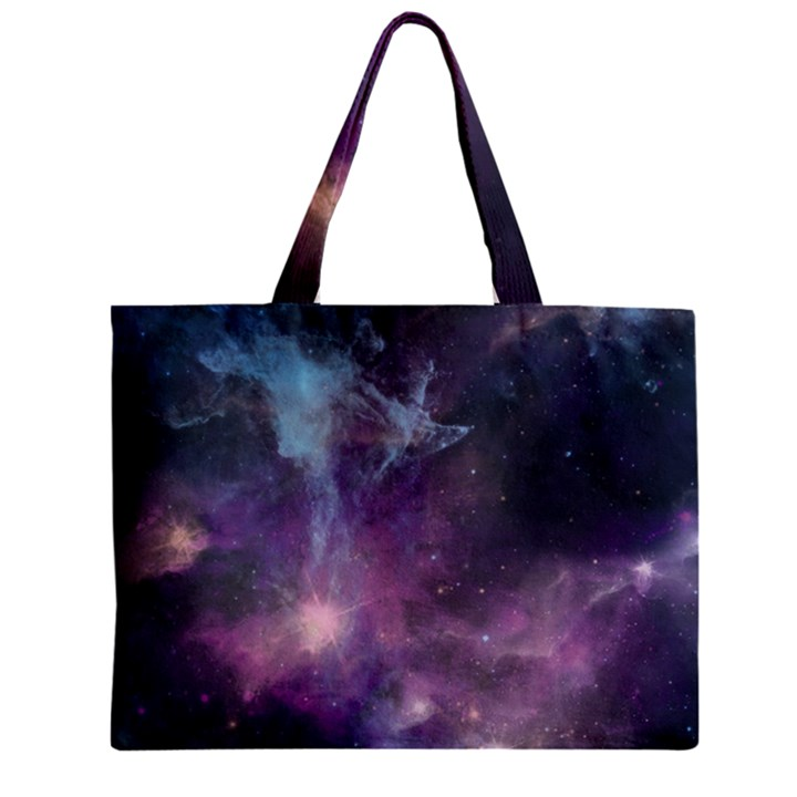 Blue Galaxy  Zipper Mini Tote Bag