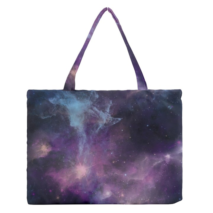 Blue Galaxy  Medium Zipper Tote Bag