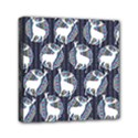 Geometric Deer Retro Pattern Mini Canvas 6  x 6  View1