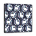 Geometric Deer Retro Pattern Mini Canvas 8  x 8  View1