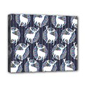Geometric Deer Retro Pattern Canvas 10  x 8  View1