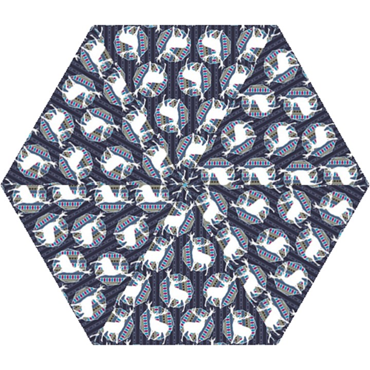 Geometric Deer Retro Pattern Mini Folding Umbrellas