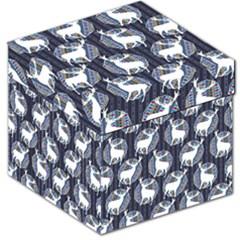 Geometric Deer Retro Pattern Storage Stool 12