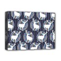 Geometric Deer Retro Pattern Deluxe Canvas 16  x 12   View1