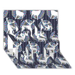 Geometric Deer Retro Pattern You Did It 3d Greeting Card (7x5)