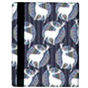 Geometric Deer Retro Pattern Apple iPad Mini Flip Case View3