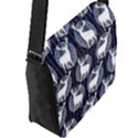 Geometric Deer Retro Pattern Flap Messenger Bag (L)  View2