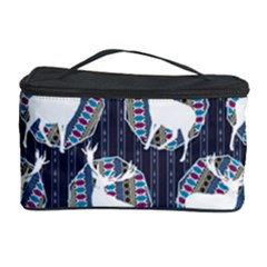 Geometric Deer Retro Pattern Cosmetic Storage Case