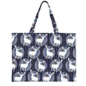 Geometric Deer Retro Pattern Large Tote Bag View1
