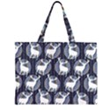 Geometric Deer Retro Pattern Large Tote Bag View2
