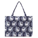 Geometric Deer Retro Pattern Medium Tote Bag View1