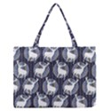 Geometric Deer Retro Pattern Medium Zipper Tote Bag View1