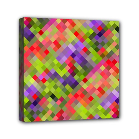 Colorful Mosaic Mini Canvas 6  x 6
