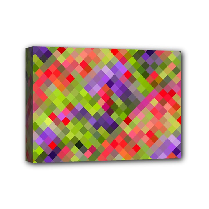 Colorful Mosaic Mini Canvas 7  x 5