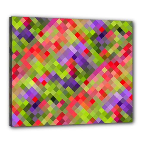 Colorful Mosaic Canvas 24  x 20