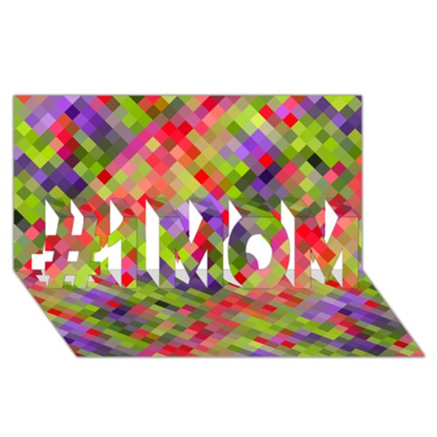 Colorful Mosaic #1 MOM 3D Greeting Cards (8x4)
