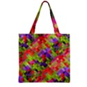 Colorful Mosaic Zipper Grocery Tote Bag View2