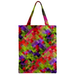 Colorful Mosaic Zipper Classic Tote Bag