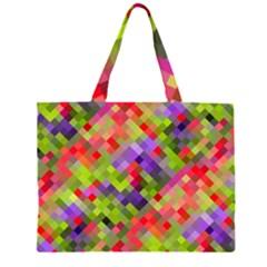 Colorful Mosaic Large Tote Bag