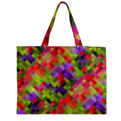 Colorful Mosaic Medium Zipper Tote Bag