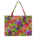 Colorful Mosaic Medium Zipper Tote Bag View1