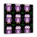 Halloween purple owls pattern Mini Canvas 8  x 8  View1