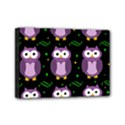Halloween purple owls pattern Mini Canvas 7  x 5  View1