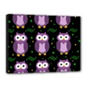 Halloween purple owls pattern Canvas 16  x 12  View1