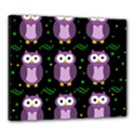 Halloween purple owls pattern Canvas 24  x 20  View1