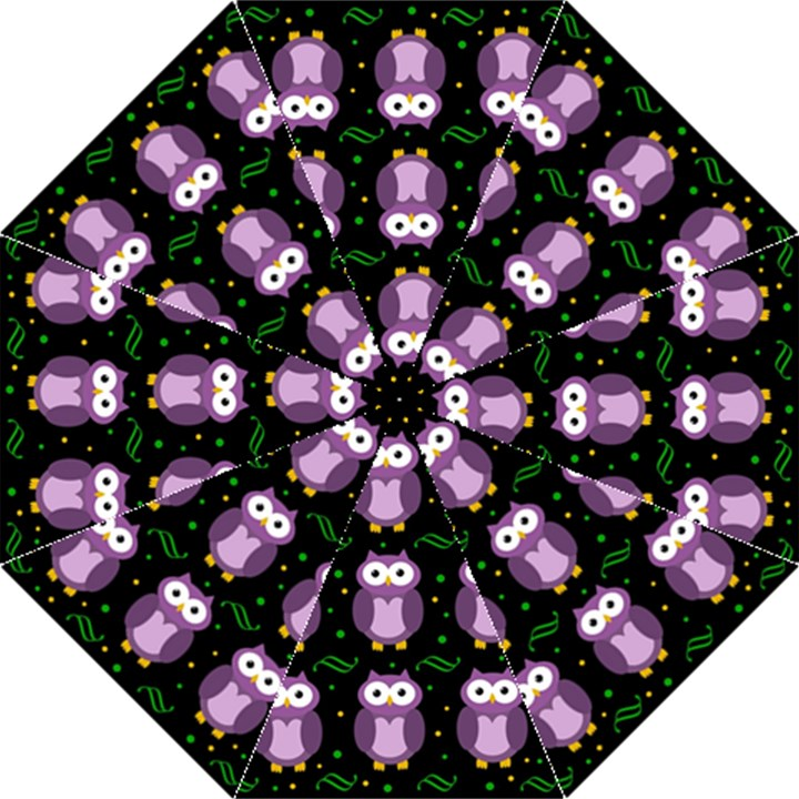 Halloween purple owls pattern Folding Umbrellas