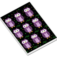 Halloween Purple Owls Pattern Large Memo Pads