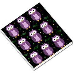 Halloween purple owls pattern Small Memo Pads