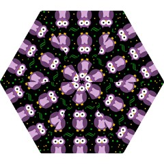 Halloween purple owls pattern Mini Folding Umbrellas