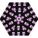 Halloween purple owls pattern Mini Folding Umbrellas View1