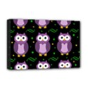 Halloween purple owls pattern Deluxe Canvas 18  x 12   View1