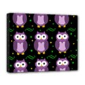 Halloween purple owls pattern Deluxe Canvas 20  x 16   View1