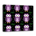 Halloween purple owls pattern Deluxe Canvas 24  x 20   View1