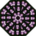 Halloween purple owls pattern Hook Handle Umbrellas (Medium) View1