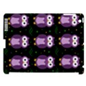 Halloween purple owls pattern Apple iPad 3/4 Hardshell Case (Compatible with Smart Cover) View1
