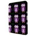 Halloween purple owls pattern Samsung Galaxy Tab 8.9  P7300 Hardshell Case  View3