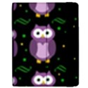 Halloween purple owls pattern Apple iPad 2 Flip Case View2