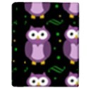 Halloween purple owls pattern Apple iPad 2 Flip Case View3