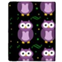 Halloween purple owls pattern Apple iPad Mini Flip Case View3
