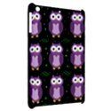 Halloween purple owls pattern Apple iPad Mini Hardshell Case View2