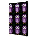 Halloween purple owls pattern Apple iPad Mini Hardshell Case View3