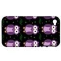 Halloween purple owls pattern Apple iPhone 4/4S Hardshell Case (PC+Silicone) View1